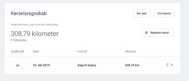 Kilometerpenge Salary
